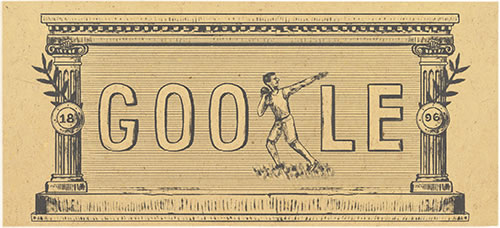 Doodle για τα 120 χρόνια από την 1η σύγχρονη Ολυμπιάδα